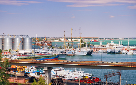 Ships in the seaport