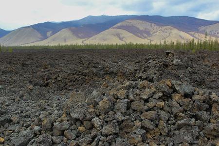 lava field: landscape of the lava field