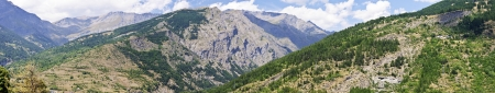 bardonecchia: Landscape of Frejus valley taken from Bardonecchia panoramic point