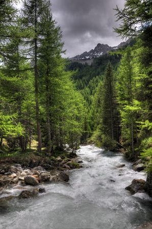 bardonecchia: Alpine river in italian alps