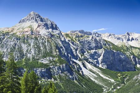 bardonecchia: Red Pinnacle in italian Alps Stock Photo