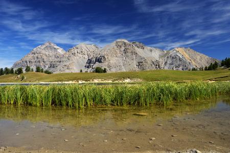 bardonecchia: Panoramic view of Italian Alps with beautiful lake - Brdonecchia - Piedmont