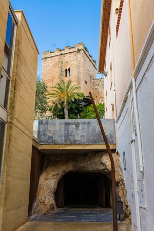 Entrance to the tunnel under the castle of Denia