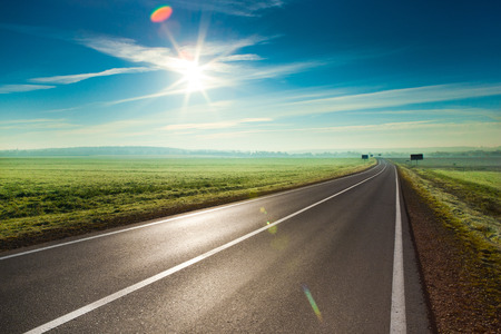 highway road: Sunny road