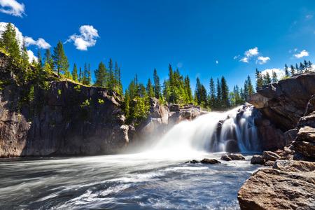 Waterfall in countryside Zdjęcie Seryjne