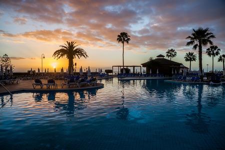 Pool on Tenerife Zdjęcie Seryjne