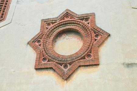 CRESPI D'ADDA, August 30, 2017 - Detail of the factory of Crespi d'Adda