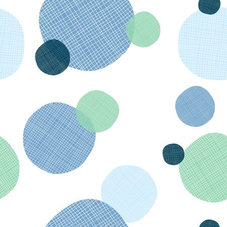 Abstract round shape with textile effect. Seamless pattern repeatable and usefull how backgorund or texture decoration.