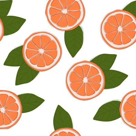 Citrus fruits pattern with lemons and oranges. Varied and colorful backround useful how wrapping paper or texture.