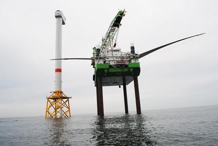 業界のオフショアの風公園 写真素材