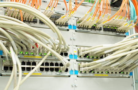 Network Switch Lan and optical fiber LWL photo