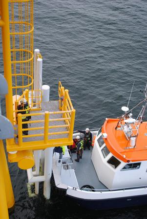 Industry Offshore Wind Farm  Standard-Bild