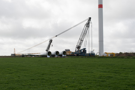 onshore: Wind turbine construction onshore