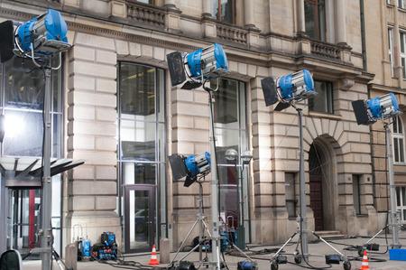 film crew: film production lighting system