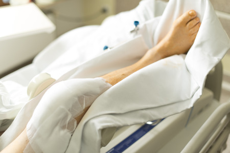 Knee surgery in hospital