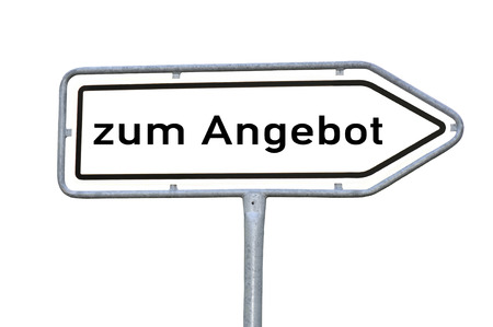Deal word sign in german photo