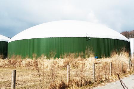 Biogas plant Standard-Bild