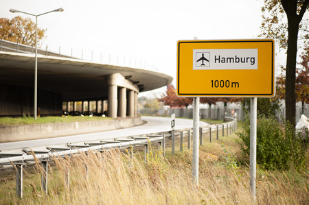 Airport street sign