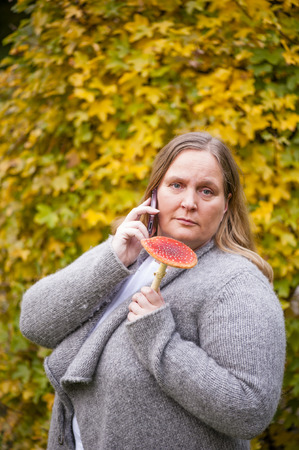 fly agaric: Woman and the last bit in the fly agaric