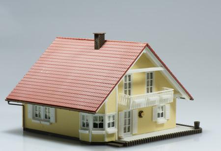 model huis Nieuwbouw Stockfoto