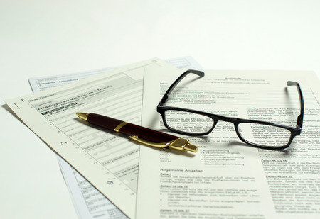 re employment: Business registration Stock Photo