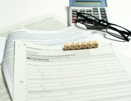 Business registration Stock Photo