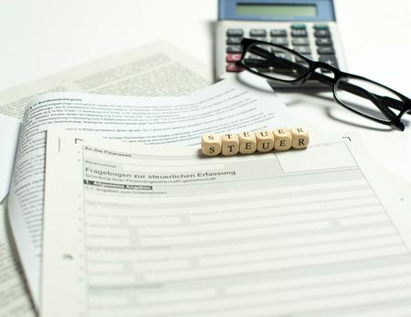 self operation: Business registration Stock Photo