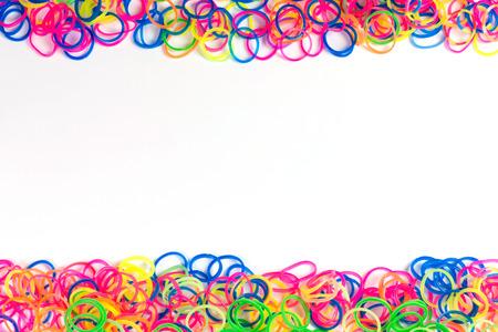 rubberband: Loom Bracelet Stock Photo