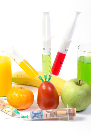 injected: Poisonous fruit Stock Photo