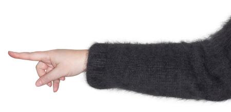 dedo indice: Mujer apuntando con el dedo �ndice