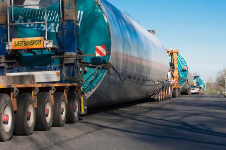 重い輸送風タービン輸送 写真素材