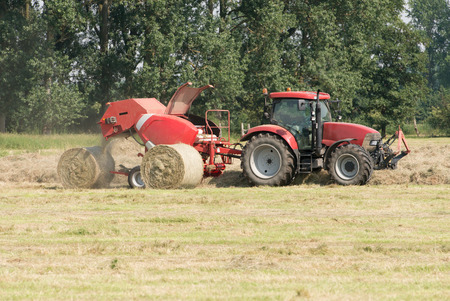 baler: Round Baler hay harvest