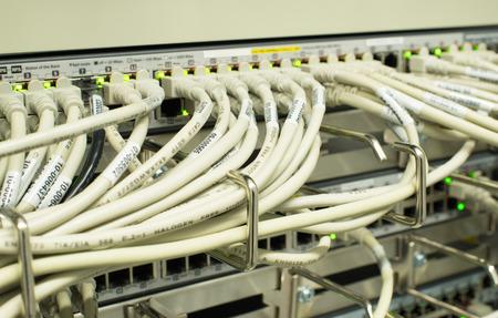 patch panel: Network Switch LAN Stock Photo