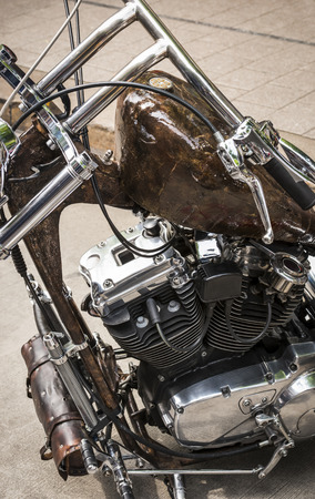 reeperbahn: Motorcycle Details Stock Photo