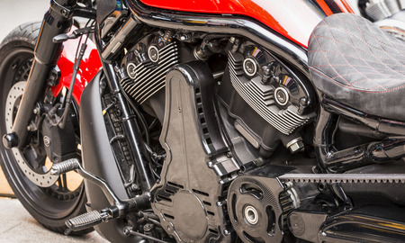 reeperbahn: Motorcycle Details Stock Photo