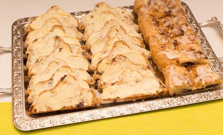 christmas baker's: Decorated Christmas cake Stock Photo