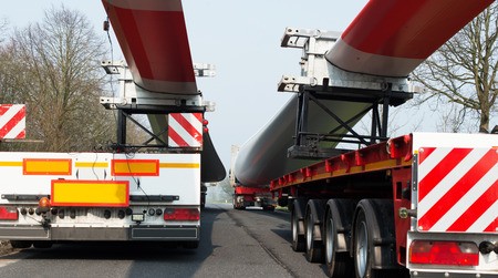 Heavy Transport of a wind power plant