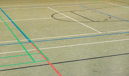 terrain de handball: Handball Salle Banque d'images