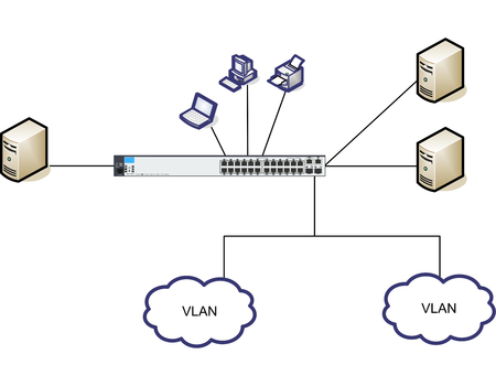 fiber optic cable: Network Diagram Illustration