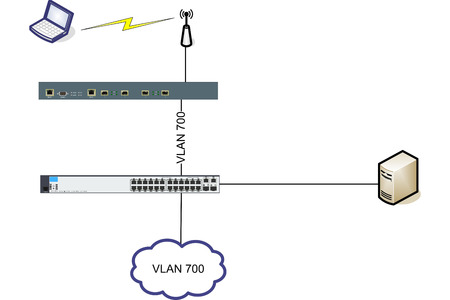 network cable: Network WLAN VLAN Diagram Illustration