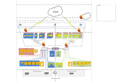 network cable: Network Cloud WLAN VLAN Diagram Illustration