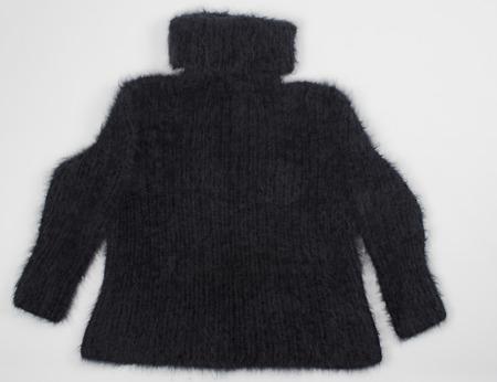 velcro: angora sweater on white background