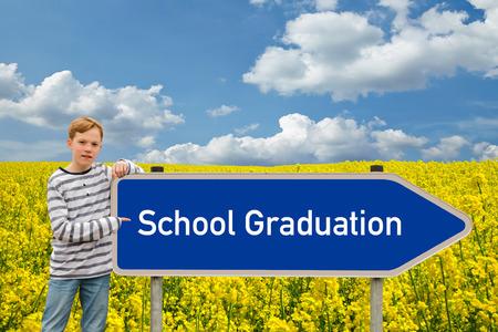 baccalaureate: School Graduation Stock Photo