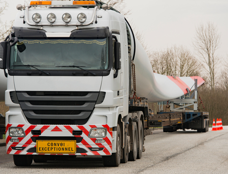 german north sea region: heavy transport wind turbine transportation