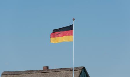 bandera alemania: Bandera de Alemania Foto de archivo