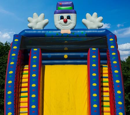 bouncy castle Standard-Bild