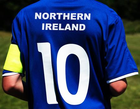 northern ireland: soccer jersey Northern Ireland Stock Photo