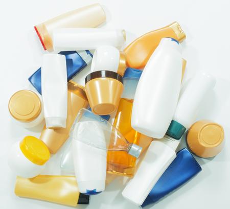 aseo personal: Los residuos plásticos Foto de archivo