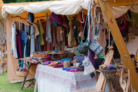 swordfight: Knitwear on a medieval market