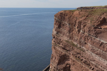 helgoland: red cliffs on Iceland Helgoland Germany